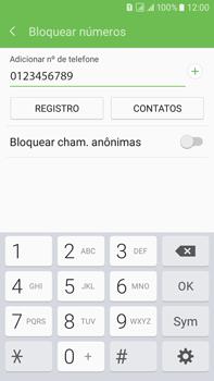 Samsung Galaxy On 7 - Chamadas - Como bloquear chamadas de um número específico - Etapa 10