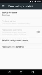 Motorola Moto G5 - Funções básicas - Como restaurar as configurações originais do seu aparelho - Etapa 5
