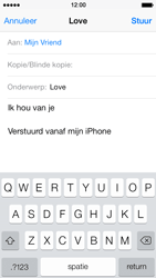 Apple iPhone 5 iOS 7 - e-mail - hoe te versturen - stap 8