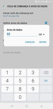 Samsung J4+ - Rede móvel - Como definir um aviso e limite de uso de dados - Etapa 11