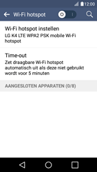LG K4 - WiFi - Mobiele hotspot instellen - Stap 6