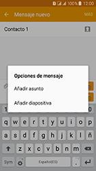 Samsung Galaxy J3 (2016) DualSim (J320) - Mensajería - Escribir y enviar un mensaje multimedia - Paso 13