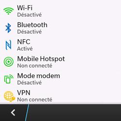 BlackBerry Q10 - Internet et connexion - Partager votre connexion en Wi-Fi - Étape 5
