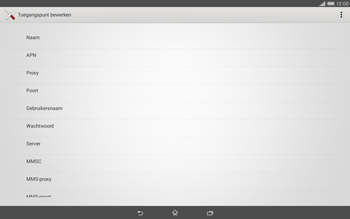 Sony Xperia Tablet Z2 (SGP521) - Internet - handmatig instellen - Stap 10
