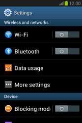 Samsung S6790 Galaxy Fame Lite - Internet - Enable or disable - Step 4