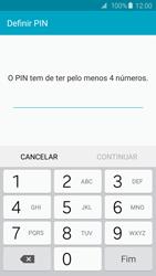 Samsung Galaxy S6 - Segurança - Como ativar o código de bloqueio do ecrã -  7