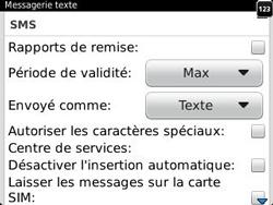 BlackBerry 9320 Curve - SMS - Configuration manuelle - Étape 5