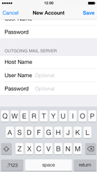 Apple iPhone 5s - E-mail - Manual configuration POP3 with SMTP verification - Step 14
