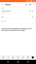 BlackBerry DTEK 50 - E-mail - Escribir y enviar un correo electrónico - Paso 9