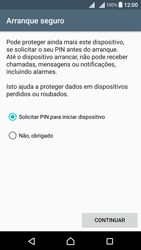 Sony Xperia X Dual SIM (F5122) - Segurança - Como ativar o código de bloqueio do ecrã -  7