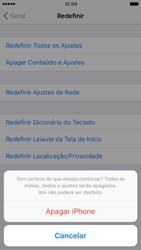 Apple iPhone iOS 10 - Funções básicas - Como restaurar as configurações originais do seu aparelho - Etapa 9