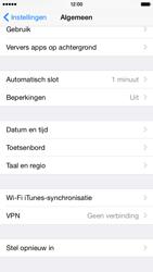 Apple iPhone 6 iOS 8 - Toestel reset - terugzetten naar fabrieksinstellingen - Stap 4