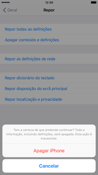 Apple iPhone 6s Plus - Repor definições - Como repor definições de fábrica do telemóvel -  8