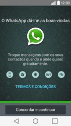 LG Y50 / LEON - Aplicações - Como configurar o WhatsApp -  5