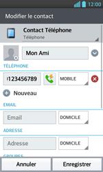 LG Optimus L5 II - Contact, Appels, SMS/MMS - Ajouter un contact - Étape 9