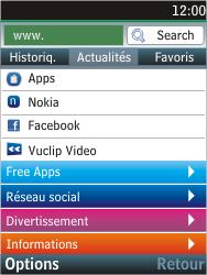 Nokia C2-05 - Internet - Navigation sur Internet - Étape 4