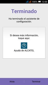 Alcatel Pop C9 - Primeros pasos - Activar el equipo - Paso 11