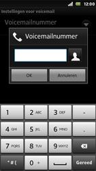 Sony ST25i Xperia U - Voicemail - Handmatig instellen - Stap 7
