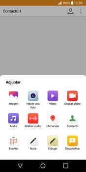 LG Q6 - Mensajería - Escribir y enviar un mensaje multimedia - Paso 11