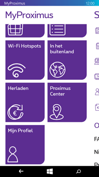 Microsoft Lumia 640 XL - Applicaties - MyProximus - Stap 19