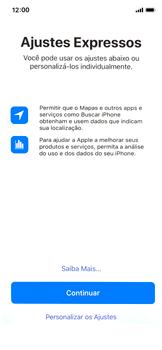 Apple iPhone X - iOS 12 - Primeiros passos - Como ativar seu aparelho - Etapa 19
