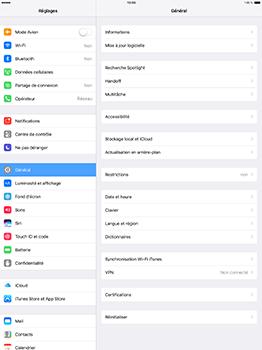 Apple iPad Pro 12.9 (1st gen) - iOS 10 - Internet - Activer ou désactiver - Étape 3