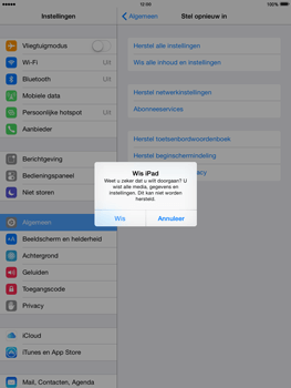 Apple iPad 4th generation iOS 8 - Resetten - Fabrieksinstellingen terugzetten - Stap 7