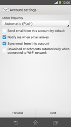 Sony D2303 Xperia M2 - Email - Manual configuration - Step 16