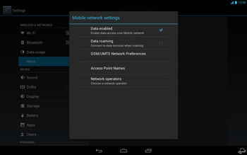 Acer Iconia Tab A3 - Network - Usage across the border - Step 6