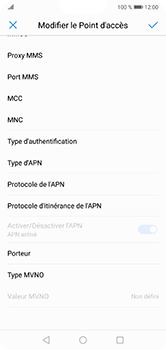 Huawei P20 Lite - Single SIM - Internet - configuration manuelle - Étape 12