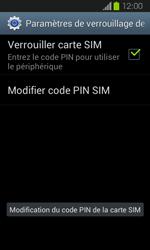 Samsung Galaxy Express - Sécuriser votre mobile - Personnaliser le code PIN de votre carte SIM - Étape 10