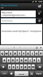 Sony LT22i Xperia P - E-mail - E-mails verzenden - Stap 7