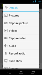 Acer Liquid E1 - Mms - Sending a picture message - Step 12