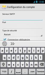 Acer Liquid Glow E330 - E-mail - Configuration manuelle - Étape 10