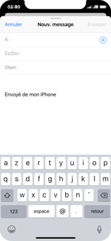 Apple iPhone X - iOS 12 - E-mail - envoyer un e-mail - Étape 3