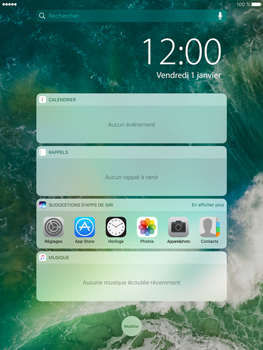 Apple iPad Pro 9.7 - iOS 10 - iOS features - Écran de verrouillage - Étape 3
