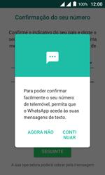"""Alcatel Pixi 4 (4"""") - Aplicações - Como configurar o WhatsApp -  11"""
