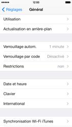 Apple iPhone 5c - Sécuriser votre mobile - Activer le code de verrouillage - Étape 4