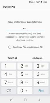 Samsung Galaxy A8 (2018) - Segurança - Como ativar o código de bloqueio do ecrã -  8