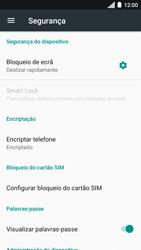 Motorola Moto C Plus - Segurança - Como ativar o código de bloqueio do ecrã -  5
