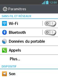 LG E430 Optimus L3 II - Wifi - configuration manuelle - Étape 3