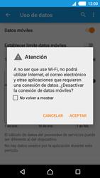 Sony Xperia M4 Aqua - Internet - Activar o desactivar la conexión de datos - Paso 6