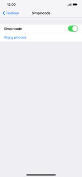 Apple iPhone XS Max - Beveiliging - pas de pincode voor je simkaart aan - Stap 12