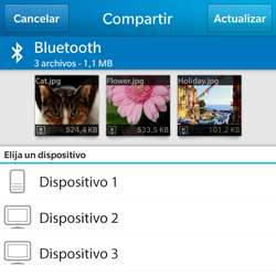 BlackBerry Q5 - Bluetooth - Transferir archivos a través de Bluetooth - Paso 9