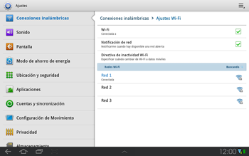 Samsung P7500 Galaxy Tab 10-1 - WiFi - Conectarse a una red WiFi - Paso 8
