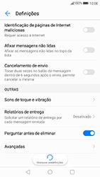 Huawei P8 Lite (2017) - SMS - Como configurar o centro de mensagens -  6