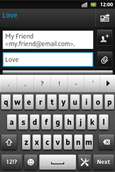 Sony ST27i Xperia Go - Email - Sending an email message - Step 9