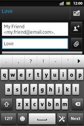 Sony ST27i Xperia Go - E-mail - Sending emails - Step 9