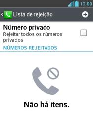 LG E430 Optimus L3 II - Chamadas - Como bloquear chamadas de um número específico - Etapa 7