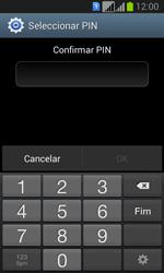 Samsung Galaxy Fresh Duos - Segurança - Como ativar o código de bloqueio do ecrã -  9